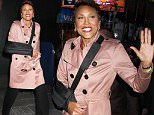 Robin Roberts, arm in a sling, at 'Good Morning America' in NYC's Times Square\n\nPictured: Robin Roberts\nRef: SPL1161442  261015  \nPicture by: Fortunata/Splash News\n\nSplash News and Pictures\nLos Angeles: 310-821-2666\nNew York: 212-619-2666\nLondon: 870-934-2666\nphotodesk@splashnews.com\n