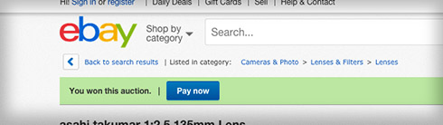 Screen-capture from eBay auction