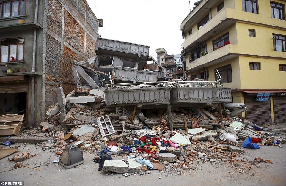 The shallow earthquake measuring 7.8 magnitude struck west of the ancient Nepali capital of Kathmandu on Saturday, killing more than 1,300 people and demolishing buildings