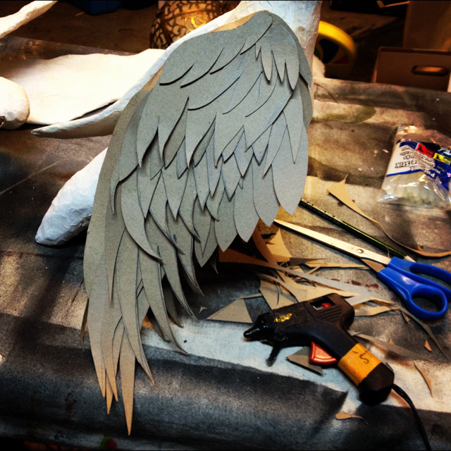 Wing under construction.