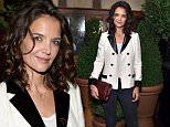 NEW YORK, NY - OCTOBER 26:  Katie Holmes attends Through Her Lens: The Tribeca Chanel Women's Filmmaker Program luncheon at Locanda Verde on October 26, 2015 in New York City.  (Photo by Stefanie Keenan/WireImage)