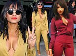 New York, NY - Christina Milian takes it to the next level as she stops by Huffington Post Live wearing a low cut yellow mustard ensemble showing a lot of cleavage.\nAKM-GSI          October 26, 2015\nTo License These Photos, Please Contact :\nSteve Ginsburg\n(310) 505-8447\n(323) 423-9397\nsteve@akmgsi.com\nsales@akmgsi.com\nor\nMaria Buda\n(917) 242-1505\nmbuda@akmgsi.com\nginsburgspalyinc@gmail.com