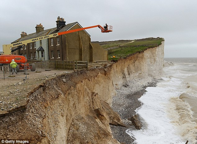 The charity said the effects of climate change such as cliff erosion (above) were of concern to its agenda