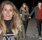 STACEY SOLOMAN AND STEVE O SEEN LEAVING ANT AND DECS SATURDAY NIGHT TAKE AWAY LIVE SHOW IN LONDON. STACEY WAS SEEN WITH HER PET DOG IN HER BAG AND HOLDING HANDS WITH STEVE AS THEY LEFT ITV STUDIOS. SATURDAY 4TH APRIL 2015 - MAGICMOMENTSUK - 07753 30 30 77
