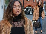 EXCLUSIVE: Myleene Klass seen leaving Angel Studios and keeping warm after returning from her holiday break with her daughters - London   Pictured: Myleene Klass Ref: SPL1161269  261015   EXCLUSIVE Picture by: Ian Lawrence / Splash News  Splash News and Pictures Los Angeles: 310-821-2666 New York: 212-619-2666 London: 870-934-2666 photodesk@splashnews.com