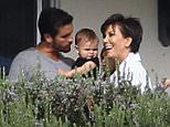 *EXCLUSIVE* Malibu, CA - Troubled Scott Disick, who voluntarily checked himself into a Malibu Rehab facility, is seen enjoying a visit from Kris Jenner and his three children.  The fragile Scott has been going through withdrawals and is reportedly having a difficult time adjusting to life without estranged ex Kourtney Kardashian.  It is believed that his current rehab stint is his longest one yet and that Scott has been checked in for almost two weeks. According to ET Online, the Malibu rehabilitation center is the fourth Scott has checked into within the past year.  Kardashian matriarch Kris Jenner shows her support through his recovery process, along with his three children Penelope, Mason, and baby Reign. Kris wore the same pajamas that she wore from earlier during the day as she attended Kim Kardashian's baby shower. \n\nAKM-GSI        October 25, 2015\n\nTo License These Photos, Please Contact :\n\nSteve Ginsburg\n(310) 505-8447\n(323) 423-9397\nsteve@akmgsi.com\nsales@akmgsi.com
