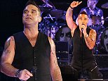 """Robbie Williams 'Let Me Entertain You Tour' 2015 - Allophones Arena, Sydney. Of the announcement, Robbie Williams said, """"Australia - Let Me Entertain You 2015. Me: Robbie Williams. You: the audience. Let's have some fun together, like old times!""""\n\nPictured: Robbie Williams\nRef: SPL1160006  271015  \nPicture by: Brandon Voight / Splash News\n\nSplash News and Pictures\nLos Angeles: 310-821-2666\nNew York: 212-619-2666\nLondon: 870-934-2666\nphotodesk@splashnews.com\n"""
