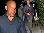 """EXCLUSIVE: """"Fast & Furious"""" star Vin Diesel takes his daughter Hania to dinner at Mr.Chow restaurant, in Beverly Hills, CA\n\nPictured: Vin Diesel ,Hania Riley\nRef: SPL1162449  261015   EXCLUSIVE\nPicture by: Roshan Perera\n\nSplash News and Pictures\nLos Angeles: 310-821-2666\nNew York: 212-619-2666\nLondon: 870-934-2666\nphotodesk@splashnews.com\n"""