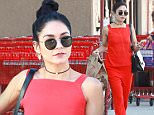 Pictured: Vanessa Hudgens\nMandatory Credit © Bella/Broadimage\n***EXCLUSIVE***\nVanessa Hudgens looked stunning in a red jumpsuit while out shipping some boxes and grocery shopping at Trader Joes\n\n\n10/26/15, Studio City, California, United States of America\n\nBroadimage Newswire\nLos Angeles 1+  (310) 301-1027\nNew York      1+  (646) 827-9134\nsales@broadimage.com\nhttp://www.broadimage.com\n