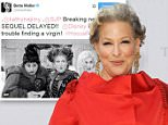 Mandatory Credit: Photo by MediaPunch/REX Shutterstock (5146823e).. Bette Midler.. Metropolitan Opera Season Opening with 'Otello', New York, America - 21 Sep 2015.. ..