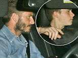 26.OCTOBER.2015 - WERT HOLLYWOOD - USA\nDAVID BECKHAM WITH HIS SON BROOKLYN BECKHAM DRIVE OFF IN THEIR RANGE ROVER AFTER DINNER TOGETHER AT THE POPULAR CELEBRITY HAUNT CRAIG'S RESTAURANT IN WEST HOLLYWOOD.\n*AVAILABLE FOR UK SALE ONLY*\nBYLINE MUST READ : XPOSUREPHOTOS.COM\n***UK CLIENTS - PICTURES CONTAINING CHILDREN PLEASE PIXELATE FACE PRIOR TO PUBLICATION ***\n*UK CLIENTS MUST CALL PRIOR TO TV OR ONLINE USAGE PLEASE TELEPHONE 0208 344 2007*