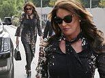 Woodland Hills, CA - Caitlyn Jenner arrives just in time to catch up with Kim and Kourtney Kardashian as they film scenes for their reality tv show at the Villa Restaurant. Caitlyn wore a pair of leather leggings  and paired it with an elegant printed blouse, as she wore her hair in curls.  \n  \nAKM-GSI           October 27, 2015\nTo License These Photos, Please Contact :\nSteve Ginsburg\n(310) 505-8447\n(323) 423-9397\nsteve@akmgsi.com\nsales@akmgsi.com\nor\nMaria Buda\n(917) 242-1505\nmbuda@akmgsi.com\nginsburgspalyinc@gmail.com