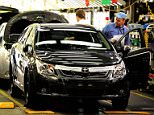 Toyota Avensis cars being made at the company's Burnaston plant in Derbyshire.