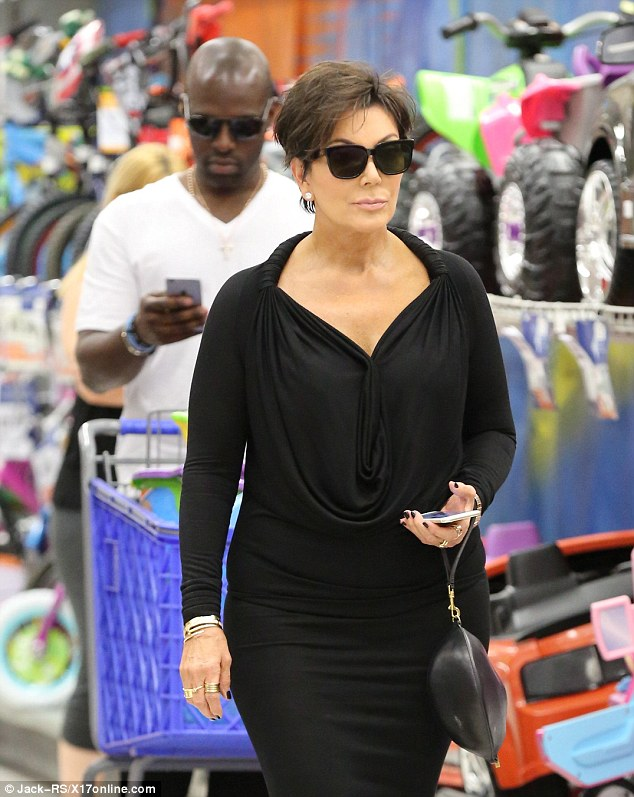 Festive shopping: The couplewere recently spotted stocking up on Easter goodies on April 1 during a trip to a local Toys R Us store in LA