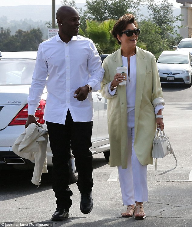Tagging along: Kris Jenner was seen attending a morning church service with toyboy Corey Gamble for Easter on Sunday in Los Angeles