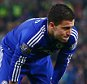 Eden Hazard of Chelsea shows a look of dejection after missing his penalty during the Capital One Cup Fourth Round match between Stoke City and Chelsea played at The Britannia Stadium, Stoke-on-Trent on October 27th 2015