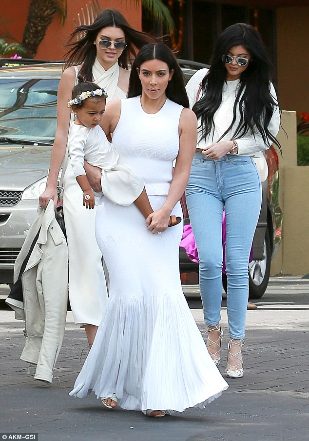 Glowing! Kim looked radiant in her stunning white ensemble that highlighted her olive skin tone