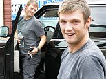 Hollywood, CA - Nick Carter is all smiles as he arrives at the dance studio and he has a good reason! Nick is expecting his first child with his wife, Lauren Kitt. The fitness pro, whom Carter married in April 2014, is about four months pregnant.\nAKM-GSI     October 28, 2015\nTo License These Photos, Please Contact :\nSteve Ginsburg\n(310) 505-8447\n(323) 423-9397\nsteve@akmgsi.com\nsales@akmgsi.com\nor\nMaria Buda\n(917) 242-1505\nmbuda@akmgsi.com\nginsburgspalyinc@gmail.com