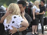 Actress Rebel Wilson gets a kiss from Mario Lopez while filming 'EXTRA' TV in Los Angeles. \n\nPictured: Rebel Wilson, Mario Lopez\nRef: SPL1161179  271015  \nPicture by: Bello / Splash News\n\nSplash News and Pictures\nLos Angeles: 310-821-2666\nNew York: 212-619-2666\nLondon: 870-934-2666\nphotodesk@splashnews.com\n