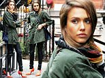 Actress Jessica Alba, wearing red-orange pumps, leaves Il Buco in Soho in New York City on October 27, 2015\n\nPictured: Jessica Alba\nRef: SPL1162669  271015  \nPicture by: Christopher Peterson/Splash News\n\nSplash News and Pictures\nLos Angeles: 310-821-2666\nNew York: 212-619-2666\nLondon: 870-934-2666\nphotodesk@splashnews.com\n