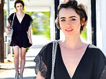EXCLUSIVE: Lily Collins makes her way to a morning meeting in west hollywood wearing a silk black jumper\n\nPictured: Lily Collins\nRef: SPL1160961  261015   EXCLUSIVE\nPicture by: Fern / Splash News\n\nSplash News and Pictures\nLos Angeles: 310-821-2666\nNew York: 212-619-2666\nLondon: 870-934-2666\nphotodesk@splashnews.com\n