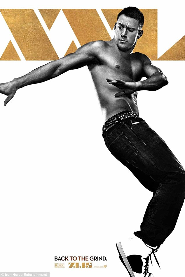 First look: The first of the Magic Mike XXL posters featured the movie's star, Channing Tatum