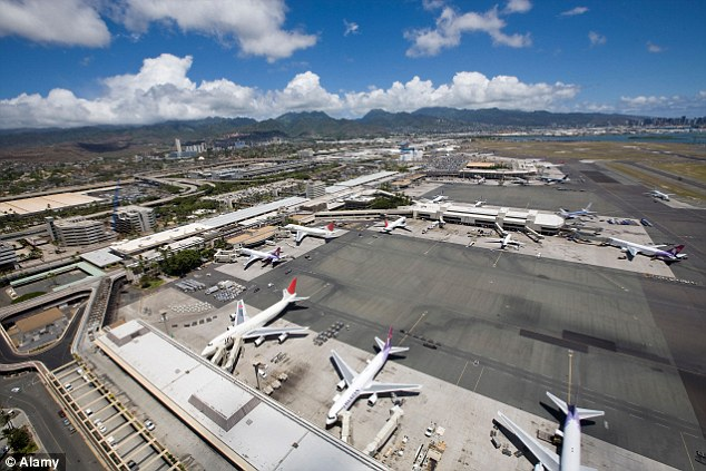 The flight ultimately returned for a non-emergency landing at Honolulu Airport and no injuries were reported