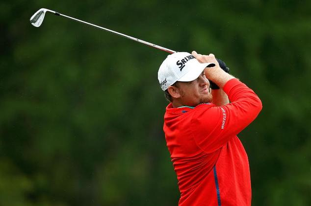 J.B. Holmes hits his tee shot on the seventh hole during the final round of the Shell Houston Open on April 5, 2015 in Humble, Texas