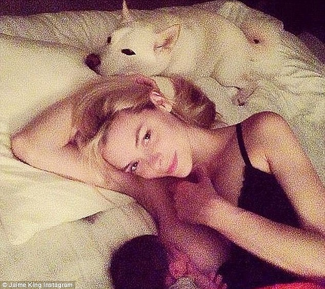Growing trend: Jaime King shared this intimate photo of her breastfeeding son James in 2014