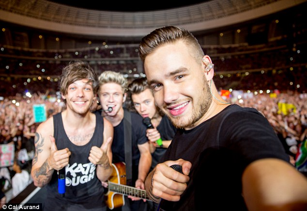Good sports: The boys, who are continuing on as a four-piece without Zayn Malik, were very apologetic to concert-goers about the incident
