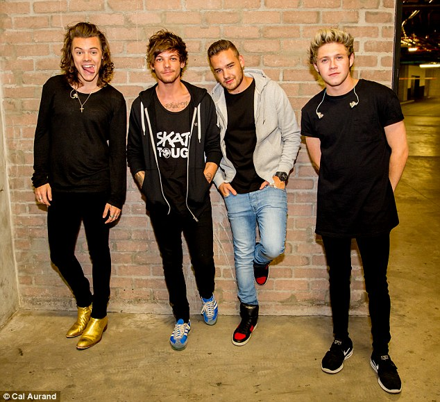 Panic: One Direction - Harry Styles, Louis Tomlinson, Liam Payne and Niall Horan - were forced to leave the stage in Dubai for half an hour when fans toppled over a security barrier and fainted in the crush