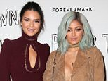 """West Hollywood, CA - July 18 Kendall Jenner, Kylie Jenner Attending Screening Of 20th Century Fox's """"Paper Towns"""" At The London West Hollywood on July 18, 2015. Photo Credit: Faye Sadou / UPA / Retna Ltd."""