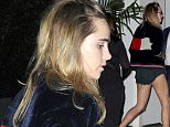 West Hollywood, CA - Suki Waterhouse enjoys a night out at Chateau Marmont in West Hollywood. The English model/actress showed off her slender legs in a pair of very short cut-offs with a Tommy Hilfiger jacket and a pair of white sneakers. AKM-GSI           October 26, 2015 To License These Photos, Please Contact :    Steve Ginsburg  (310) 505-8447  (323) 423-9397  steve@akmgsi.com  sales@akmgsi.com    or    Maria Buda  (917) 242-1505  mbuda@akmgsi.com  ginsburgspalyinc@gmail.com