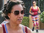 27.OCTOBER.2015 - LOS ANGELES - USA FORMER SPICE GIRL MEL B ( MELANIE BROWN ) SEEN OUT JOGGING IN LOS ANGELES WEARING COLOURFUL LEGGINS, SUNGLASSES AND TRAINERS. BYLINE MUST READ : XPOSUREPHOTOS.COM ***UK CLIENTS - PICTURES CONTAINING CHILDREN PLEASE PIXELATE FACE PRIOR TO PUBLICATION*** UK CLIENTS MUST CALL PRIOR TO TV OR ONLINE USAGE PLEASE TELEPHONE 0208 344 2007