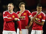 MANCHESTER, UNITED KINGDOM - OCTOBER 28:   Manchester United players react after losing the penalty shoot out in the Capital One Cup Fourth Round match between Manchester United v Middlesbrough at Old Trafford on October 28, 2015 in Manchester, United Kingdom.  (Photo by Matthew Ashton - AMA/Getty Images)