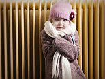 Girl in front of radiator