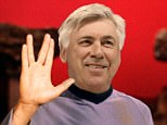 A mock-up image of how Ancelotti may look in the Star Trek film after reportedly making a cameo appearance