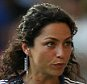 Chelsea's doctor Eva Carneiro appears to have an argument with Jose Mourinho manager of Chelsea   during the Barclays Premier League match between  Chelsea and Swansea played at Stamford Bridge, London  The game ended a 2-2 draw.