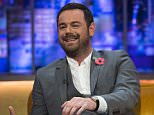 **STRICTLY EMBARGOED UNTIL 00.01 FRIDAY 30TH OCTOBER 2015** Editorial Use Only. No merchandising  Mandatory Credit: Photo by Brian J Ritchie/Hotsauce/REX Shutterstock (5324218ax)  Danny Dyer  'The Jonathan Ross Show' TV Programme, London, Britain - 31 Oct 2015  PRISCILLA PRESLEY opens up about her marriage to Elvis Presley and reveals she spoke to him days before his untimely death. She also talks about him being germophobic.   ELVIS COSTELLO plays a special rendition of ?The King of Rock?s? song, Don?t on Presley?s personal guitar from 1956.   DANNY DYER speaks about being desperate for work before his role in EastEnders came up and teases ahead to the Christmas special which sees him wear a wetsuit.  ROB BECKETT speaks about becoming a dad!