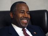 In this photo taken Oct. 28, 2015, Republican presidential candidate Ben Carson discusses faith during an exclusive interview with The Associated Press at a hotel in Broomfield, Colo. In a wide-ranging interview about his faith with The Associated Press, Ben Carson expressed pride in his little-known Seventh-day Adventist church, but also sought some distance from it, framing his beliefs in the broadest Christian terms as his surging campaign prompts scrutiny of his religion.(AP Photo/Brennan Linsley)