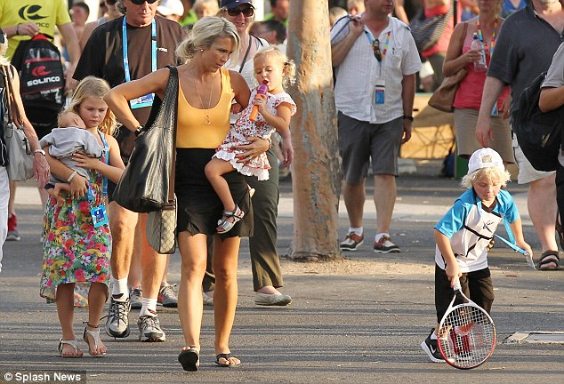 Mummy duty! The 31-year-old has her hands full with her three-strong brood and has no plans to return to acting, although Lleyton is set to retire after his 20th Australian Open next year