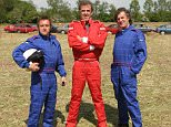 Top Gear - Shot by Hugo Dixon for Zoo Magazine, 13 May 2005. L-R Richard Hammond, Jeremy Clarkson and James May