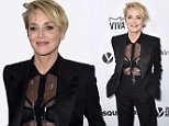 Sharon Stone arrives at the amfAR Inspiration Gala at Milk Studios on Thursday, Oct. 29, 2015, in Los Angeles. (Photo by Jordan Strauss/Invision/AP)