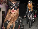 28.OCTOBER.2015 - LONDON - UK LINDSAY LOHAN  CELEBRITIES ATTENDING THE CUCKOO ASYLUM PARTY IN LONDON BYLINE MUST READ : EBELE / XPOSUREPHOTOS.COM ***UK CLIENTS - PICTURES CONTAINING CHILDREN PLEASE PIXELATE FACE PRIOR TO PUBLICATION *** **UK CLIENTS MUST CALL PRIOR TO TV OR ONLINE USAGE PLEASE TELEPHONE 44 208 344 2007**
