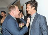 LOS ANGELES, CA - OCTOBER 29:  Comedian James Corden (L) and actor Orlando Bloom attend James Corden, Vanity Fair And Burberry Celebrate The 2015 British Academy BAFTA Los Angeles Britannia Awards on October 29, 2015 in Los Angeles, California.  (Photo by Donato Sardella/Getty Images  for Burberry)