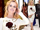 DUBAI, UNITED ARAB EMIRATES - OCTOBER 29: Eva Herzigova walks during the VIP Mall Tour at the Vogue Fashion Dubai Experience 2015 at The Dubai Mall on October 29, 2015 in Dubai, United Arab Emirates.  (Photo by Gareth Cattermole/Getty Images for Vogue and The Dubai Mall)