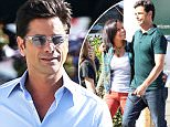 *** UK ONLY *** *** MAIL ONLINE OUT ***144335, John Stamos and Christina Milian seen on the set of 'Grandfathered' in Studio City. Studio City, California - Thursday October 29, 2015. \nPHOTOGRAPH BY Pacific Coast News / Barcroft Media\nUK Office, London.\nT +44 845 370 2233\nW www.barcroftmedia.com\nUSA Office, New York City.\nT +1 212 796 2458\nW www.barcroftusa.com\nIndian Office, Delhi.\nT +91 11 4053 2429\nW www.barcroftindia.com
