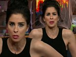 NEW YORK, NY: Thursday, October 29, 2015 ? \n?Watch What Happens Live? Bravo chat host Andy Cohen was joined by comedienne/actress Sarah Silverman on the Halloween Be Ghoul Costume Special.\n