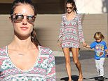 Santa Monica, CA - Alessandra Ambrosio is looking beautiful in a summer dress as she walks hand in hand with her son Noah on their way to school.\nAKM-GSI          October 29, 2015\nTo License These Photos, Please Contact :\nSteve Ginsburg\n(310) 505-8447\n(323) 423-9397\nsteve@akmgsi.com\nsales@akmgsi.com\nor\nMaria Buda\n(917) 242-1505\nmbuda@akmgsi.com\nginsburgspalyinc@gmail.com
