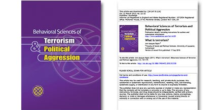 Behavioral Sciences of Terrorism and Political Aggression